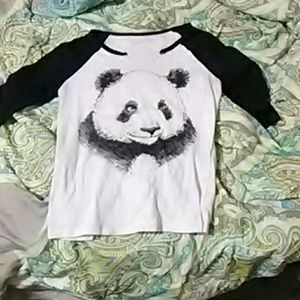 Tops - Panda baseball tee